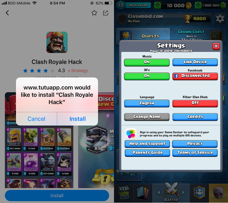PlenixRoyale iOS, PlenixRoyale Mod IPA, Clash Royale Mod IPA, Clash Royale hack IPA
