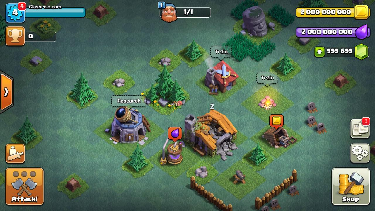 Clash of Clans Builder's Base modded, coc builders base mod, coc builders base unlimited