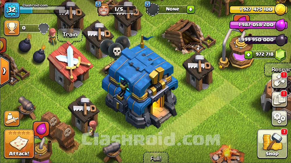 clash of clans rooted