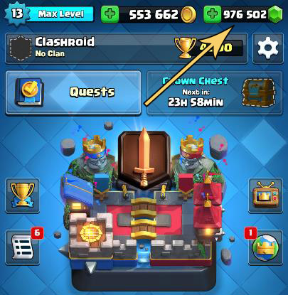 clash royale mod apk, cr mod apk, unlimited gems in clash royale, clash royale free gems