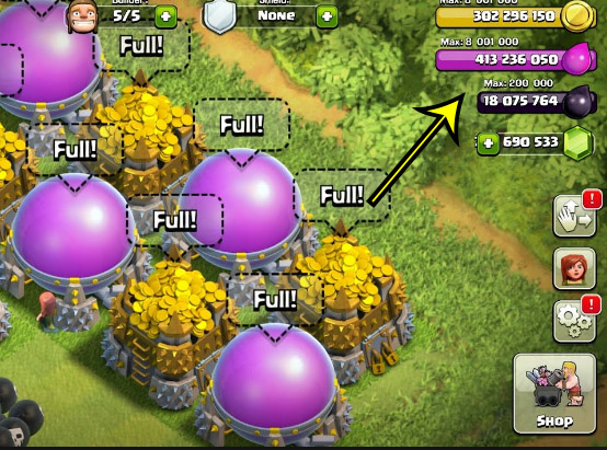 unlimited resources in clash of clans