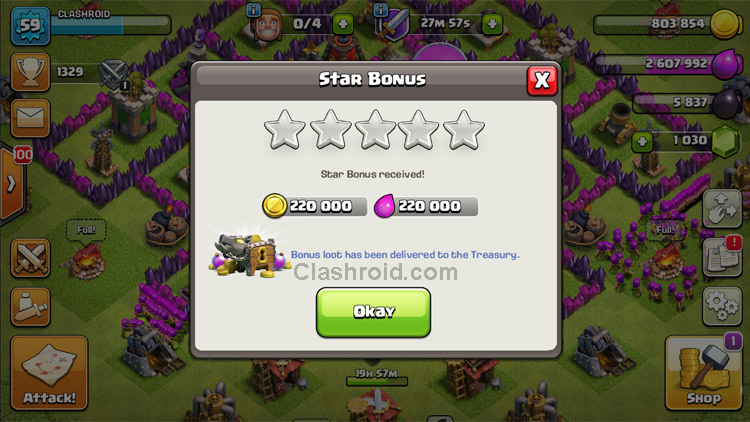 Clash of Clans Star Bonus, Clash of Clans Star Bonus Farming, How to farm using Star Bonus, COC Star Bonus Loot
