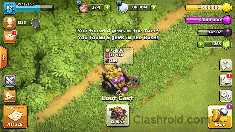 Remove Obstacles in Clash of Clans